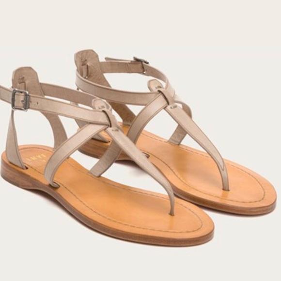 aa4d0679815 Frye Shoes - FRYE RACHEL T CREAM CEMENT T STRAP SANDALS 🌺☺️